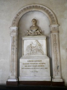 Memorial to Lorenzo Bartolini at Santa Croce