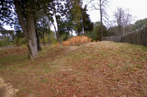 Confederate earthworks at Ft. Pocahontas (Jamestowne)